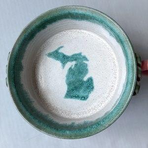 T J Richter Kitchen - T J Richter 1992 Vintage Michigan Stoneware Dish